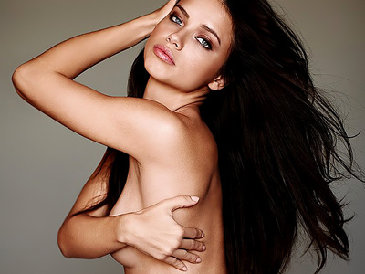 Adriana Lima Topless And Underwear Photoshoot