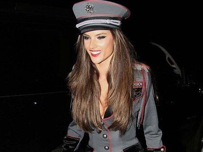 Alessandra Ambrosio in uniform