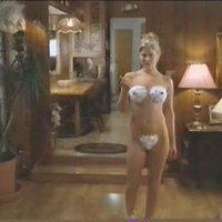 There's nothing like nude Ali Larter covered with cream