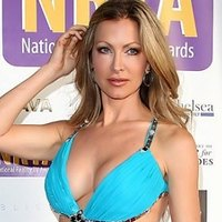 Caprice Bourret shows off her seductive cleavage.
