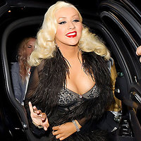 Christina Aguilera extremely large cleavage