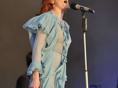Florence Welch see-through shots