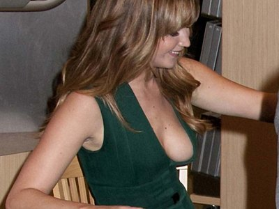 Jennifer Lawrence loses control of her breasts