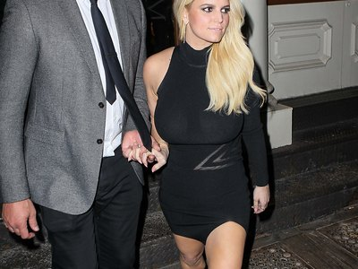 Jessica Simpson see-through shots