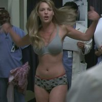 Katherine Heigl posing in underwear in Greys Anatomy TV series