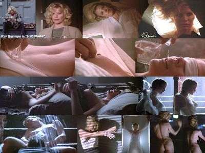 Kim Basinger exposes her hot body