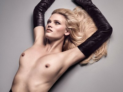 Lara Stone See-through And Topless
