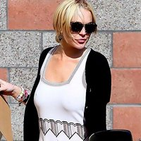 Lindsay Lohan Braless braless exclusive stuff