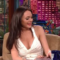 Lindsay Lohan The hot star visit popular Tv The Tonight Show