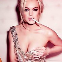 Lindsay Lohan smocking hottie