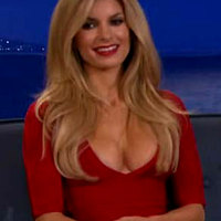 Marisa Miller Busts Out Hot Red Cleavage
