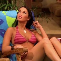 Megan Fox posing in sexy outfit in 'Two And a Half Men' series