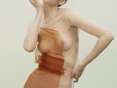 Melina Gesto see-through shots