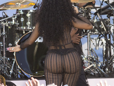 Nicki Minaj see-through shots