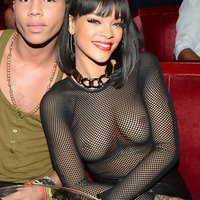 Rihanna Boobs In See Through Top