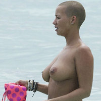 Amber Rose nude boobs and hot bikini