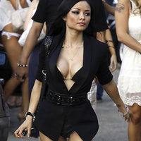 Asian girl Tila Tequila shows her bristols and legs